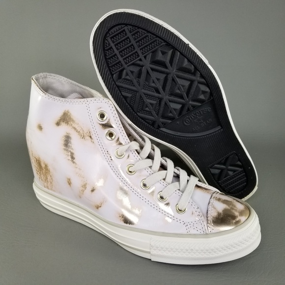 759c8c1f5290 Converse CTAS Lux Mid Hidden Wedge Sneakers Gold